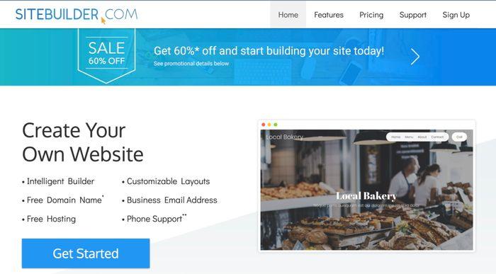 Sitebuilder - пример хорошего конструктора сайтов
