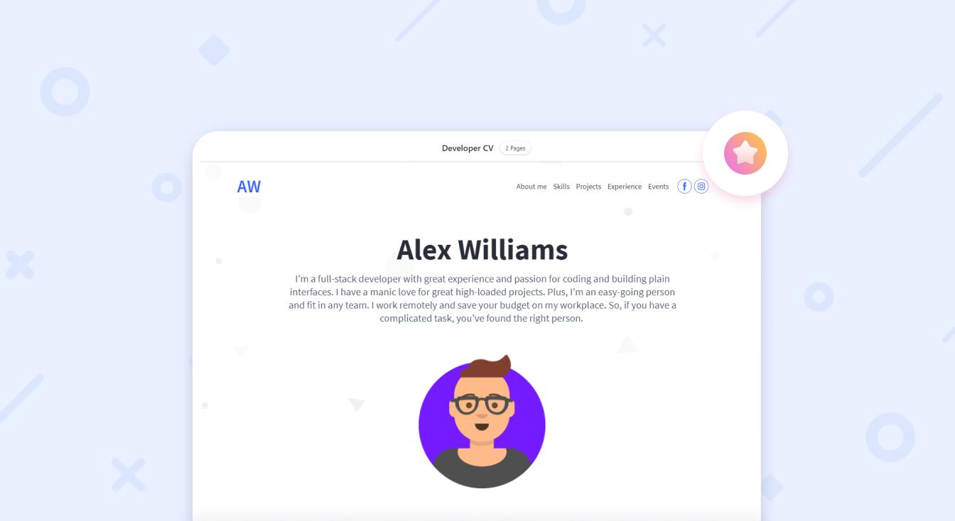 Как бесплатно создать сайт-резюме?