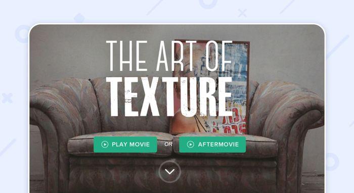 пример одностраничного сайта:The art of texture
