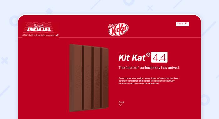 пример одностраничного сайта:KitKat 4.4