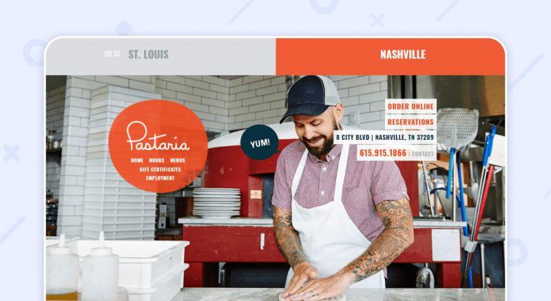 Пример хорошего сайта Pastaria