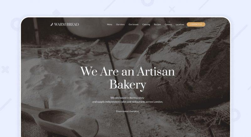 Шаблон Пекарня