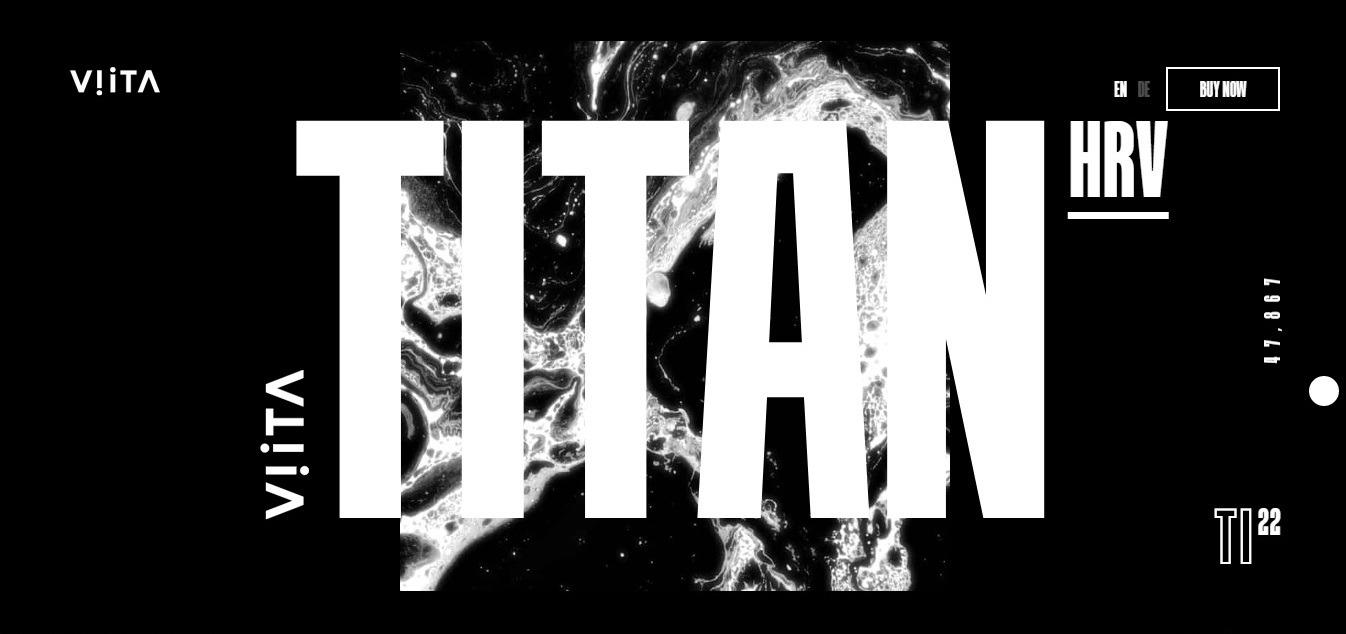 Titan: пример эффектного лендинга