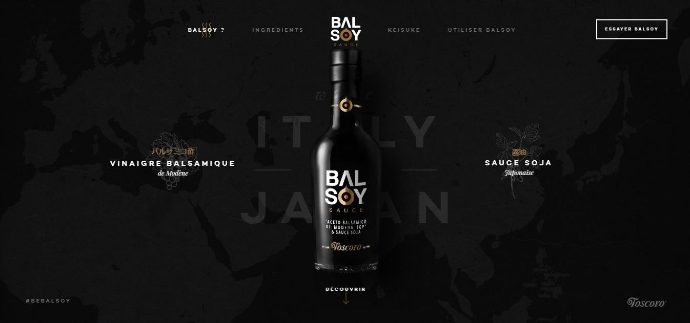 Balsoy: пример крайне «эстетичного» лендинга