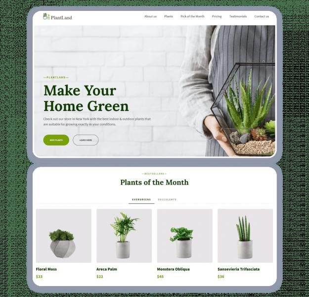 интернет-магазин шаблон Plant Shop