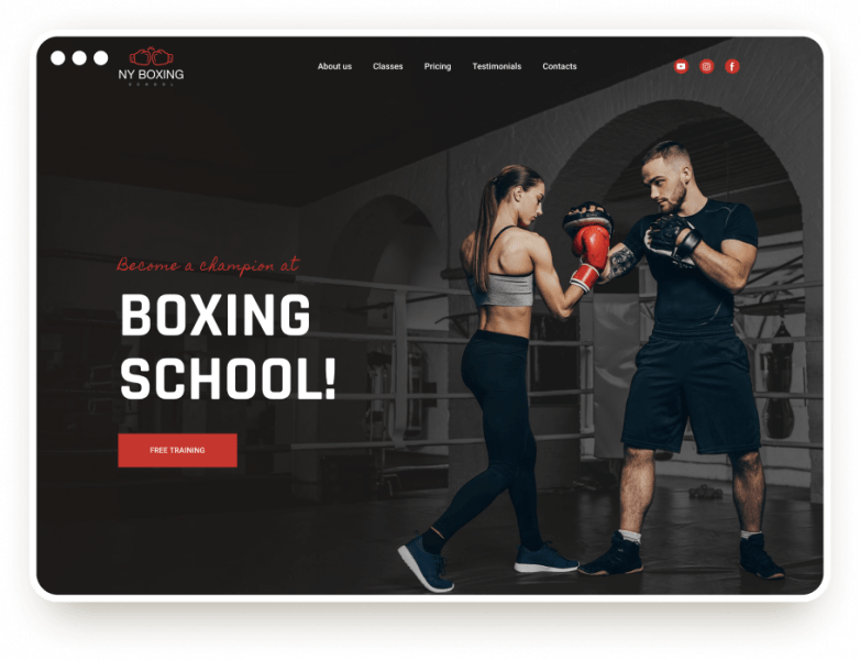 Шаблон боксовской школы