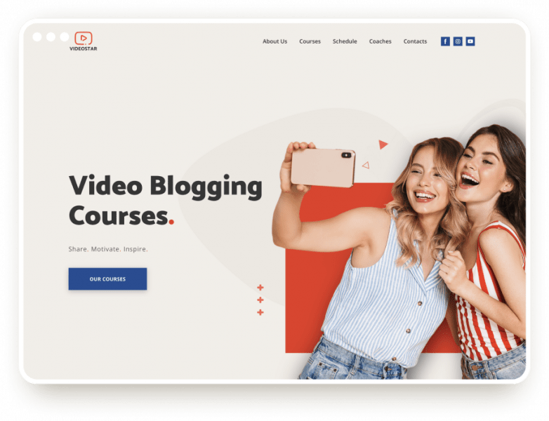 Шаблон курсов видео блогера
