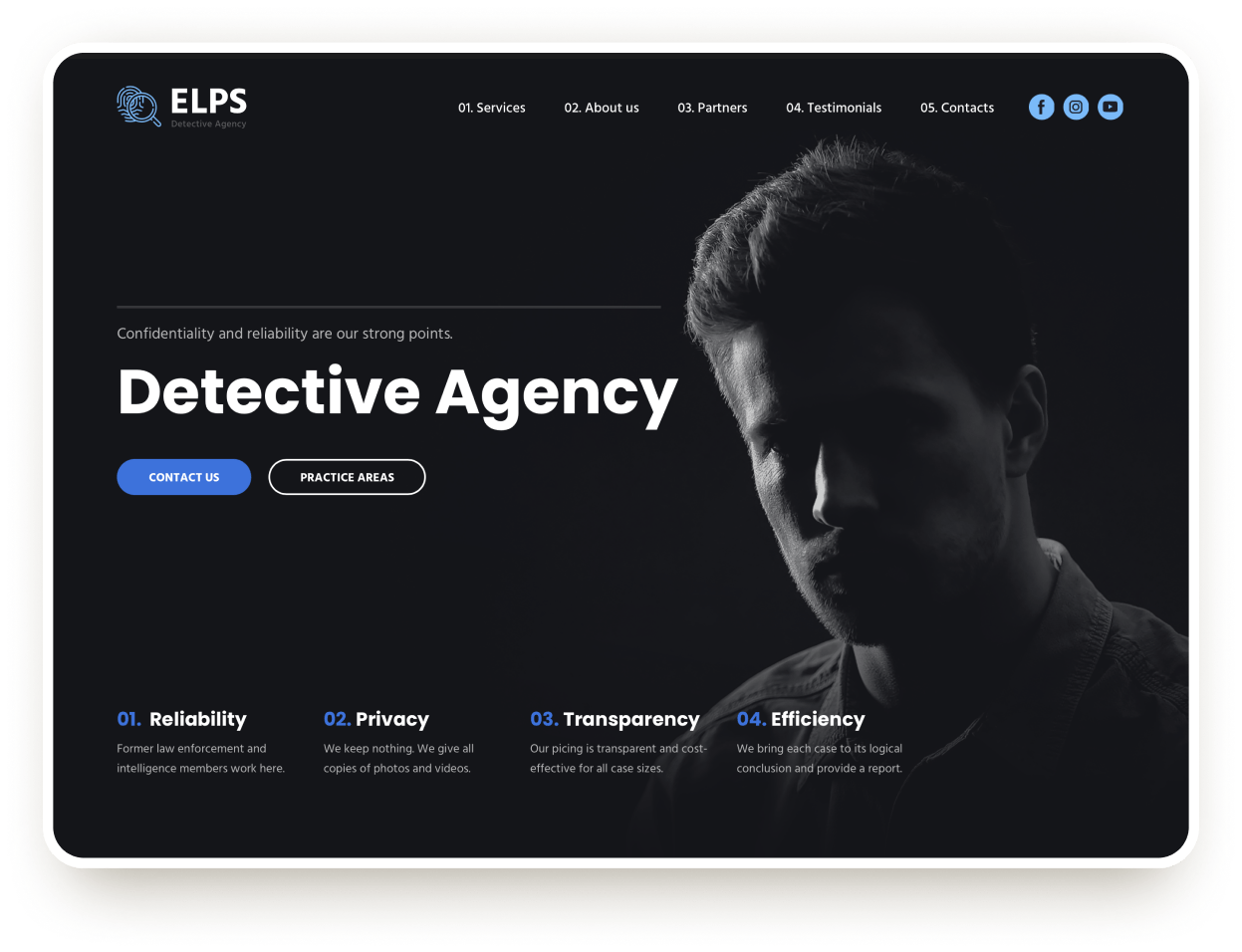 Detective agency site template