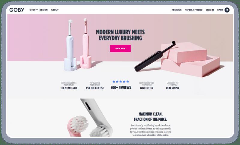 Пример продающего сайта с крутым дизайном