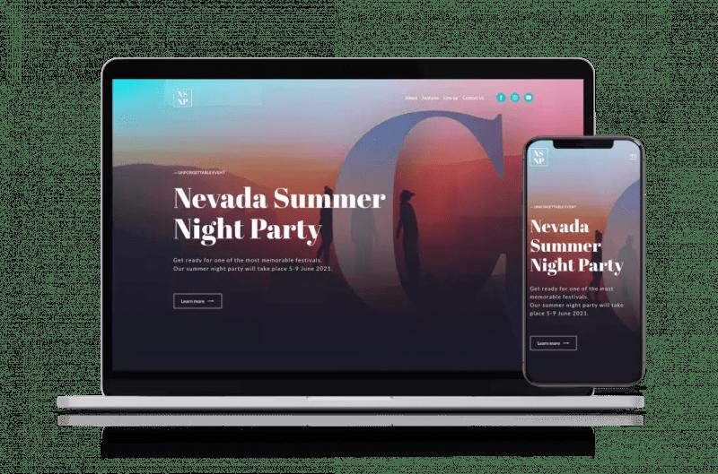 Адаптивный дизайн сайта на Веблиум